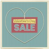 Sale banner to Valentine`s Day Royalty Free Stock Image