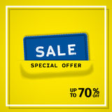 Sale banner. Vector background. Stock Photography
