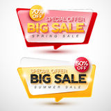 Sale banner vector . Royalty Free Stock Photo