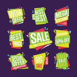 Sale banner vector  set Royalty Free Stock Photo