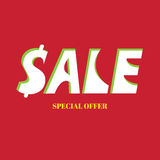Sale banner for website and promotions in stores Royalty Free Stock Images