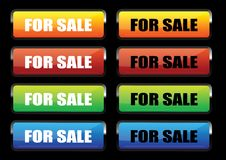 For sale banners Stock Images