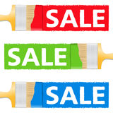 Sale Banners Stock Photos