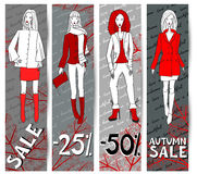 Sale banners royalty free illustration