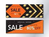 Sale banners Royalty Free Stock Images