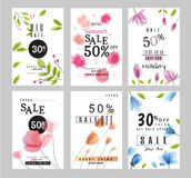 Sale banners collection for social media banners, web design, shopping on-line,posters Royalty Free Stock Image