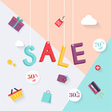 Sale banners design, discounts and special offer. shopping backg Royalty Free Stock Photo
