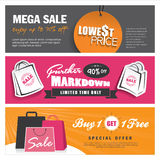 Sale banners design Stock Photography