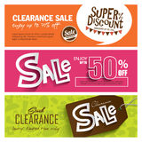 Sale banners design Royalty Free Stock Images