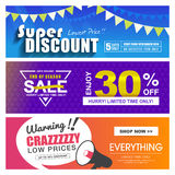 Sale banners design Stock Image