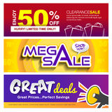 Sale banners design Royalty Free Stock Photography