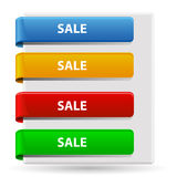Sale banners. An illustration of colorful banners with the text sale on them Stock Photo