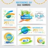 Sale Banners for Indian Independence Day. Royalty Free Stock Photos