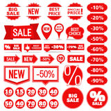 Sale Banners, Labels and Stickers Stock Photo