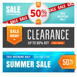 Sale banners. Set of sale banners design. Vector illustration Stock Photo