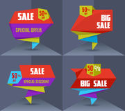 Sale banners set Royalty Free Stock Images