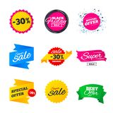 Sale banners templates. Best offers, discounts. Stock Photography