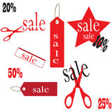 Sale banners of various sizes Royalty Free Stock Images