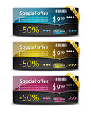 Sale banners-vector Royalty Free Stock Photos
