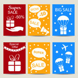 Sale banners vector isolated set Royalty Free Stock Photos