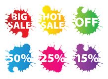 Sale bannes Royalty Free Stock Photo