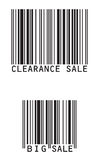 Sale barcode Royalty Free Stock Image