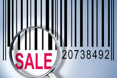 Sale on barcode Royalty Free Stock Photography