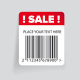 Sale barcode label template vector Stock Photos