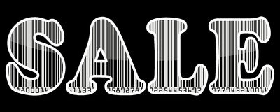 Sale barcode sticker Stock Photography