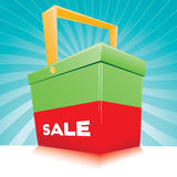 Sale basket Royalty Free Stock Photos