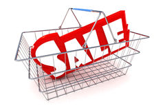 Sale Basket Illustration Royalty Free Stock Photography