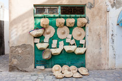 Sale of basketry Stock Images