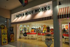 75% sale at bath and body works stock photography