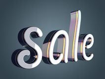 Sale beautiful glossy text Royalty Free Stock Images