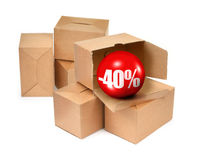 Sale begrepp -40% Royaltyfri Fotografi