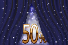 The sale. Big discount 50%. Vector illustration Royalty Free Illustration