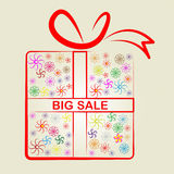 Sale Big Means Gift Box And Clearance Royalty Free Stock Images