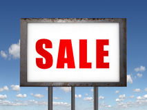Sale billboard. Royalty Free Stock Image