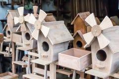 Sale of birdhouses Royalty Free Stock Image