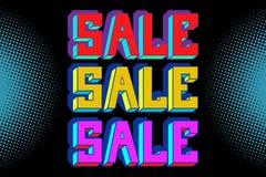 Free Sale Black Blue Pop Art Background Royalty Free Stock Images - 129940009