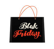 Sale, Black Friday. Bag for shopping. Vector Royalty Free Stock Photography