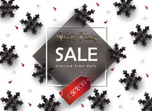 Sale. Black Friday Sale banner. Modern Winter and Fall Thanksgiving, Halloween, Christmas Holiday Sale gift card, shopping card banner discount. Vector leaflet Stock Image