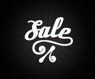 Sale black friday letters poster on black radial background, vector illustration Stock Photography