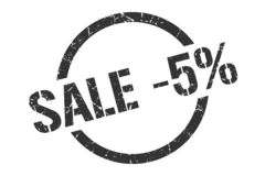 sale -5% stamp royalty free illustration