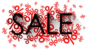 Sale black word over percent signs Royalty Free Stock Photo