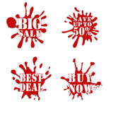 Sale blot collection red Royalty Free Stock Photography