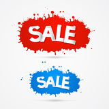 Sale Blots, Splashes Icons Stock Photography