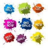 Sale Blots - Splashes Labels Stock Photo