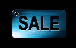 Sale on blue Stock Image