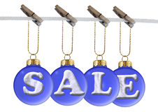 Sale on blue  ball Stock Images